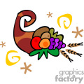Whimsical cornucopia vector clip art image