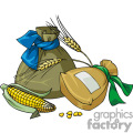 Bags of wheat vector clip art image