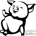 cartoon pig gif, png, jpg, eps