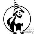 dog wearing a birthday hat gif, png, jpg, eps