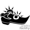 A Black and White Leprechaun Shoe Filled with Royal Coins