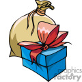 Present and a bag of gifts