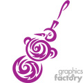 Purple Snowman Christmas Tree Ornament with a Carrot Nose