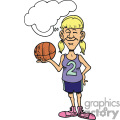 girl basketball player gif, png, jpg, eps