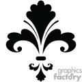 Black Fleur de lis