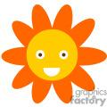 Big orange smiley face daisy