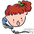 a brown haired girl talking on the phone