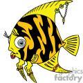 a jewl wearing angel fish