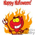 Happy Holidays Greeting With Halloween Devil