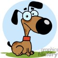 dog cartoon character in front of a blue circle gif, png, jpg, eps, svg, pdf