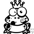 Black and white frog prince