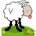 2670-Royalty-Free-Funky-Sheep-Sticking-Out-His-Tongue