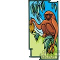 monkey in a banana tree