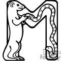 Letter M Marmot