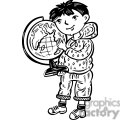 child holding a globe gif, png, jpg, eps, svg, pdf