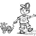 boy playing with his toy truck gif, png, jpg, eps, svg, pdf
