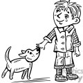 young boy walking his dog gif, png, jpg, eps, svg, pdf