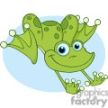Cartoon-Happy-Hopping-Frog-with-blue-background