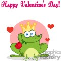 Cartoon-Frog-Prince-With-A-Rose-In-Mouth-Happy-Valentines-Day