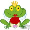 Cartoon-Bride-Frog-Character