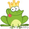 Cartoon-Frog-Prince-Character-Hanging-Its-Tongue-Out