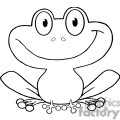 Cartoon-Cute-Frog-Character-BW