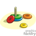 Cartoon preschool toss game