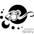 black and white outline of a whimsical whistle gif, png, jpg, eps, svg, pdf