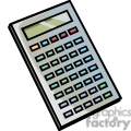 Gray calculator with colored buttons