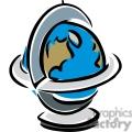Cartoon classroom globe