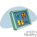 Cartoon butterflies in a shadow box
