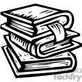 black white stack of books