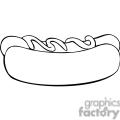 hotdog outline