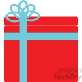 blue bow on a red christmas gift gif, png, jpg, eps, svg, pdf
