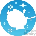 Christmas sleigh icon