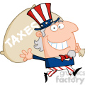 102523-Cartoon-Clipart-Uncle-Sam-Runs-And-Aarries-A-Bag-Of-Money