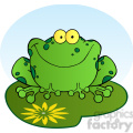 102493-Cartoon-Clipart-Happy-Frog-Cartoon-Character