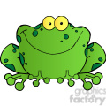 102492-Cartoon-Clipart-Happy-Frog-Cartoon-Character