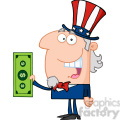 102515-cartoon-clipart-uncle-sam-with-holding-a-dollar-bill  gif, png, jpg, eps, svg, pdf