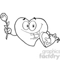 102556-Cartoon-Clipart-Sweet-Red-Heart-Man-Carrying-Chocolates-And-A-Rose