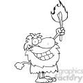 black-white-cartoon-caveman  gif, png, jpg, eps, svg, pdf