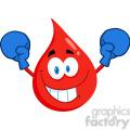 cartoon-blood-drop-wearing-boxing-gloves  gif, png, jpg, eps, svg, pdf