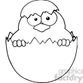 Royalty-Free-RF-Copyright-Safe-Surprise-Yellow-Chick-Peeking-Out-Of-An-Egg-Shell