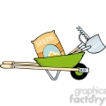 royalty-free-rf-copyright-safe-green-barrow-with-seeds-a-rake-and-shovel  gif, png, jpg, eps, svg, pdf