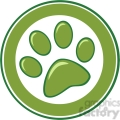 Royalty-Free-RF-Copyright-Safe-Green-Paw-Print-Banner