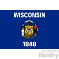 vector state flag of wisconsin gif, png, jpg, eps, svg, pdf