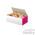 box of vector doughnuts vector clip art image