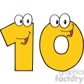 5026-Clipart-Illustration-of-Number-Ten-Cartoon-Mascot-Character