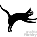 vector clip art illustration of black cat 030