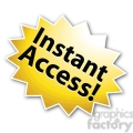 instant access star burst icon right  gif, png, jpg, eps, svg, pdf